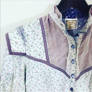 Vintage Gunne Sax Floral Boho Lace Dress